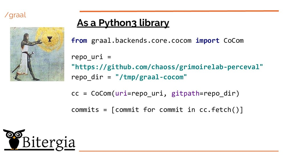 /graal As a Python3 library from graal.backends...