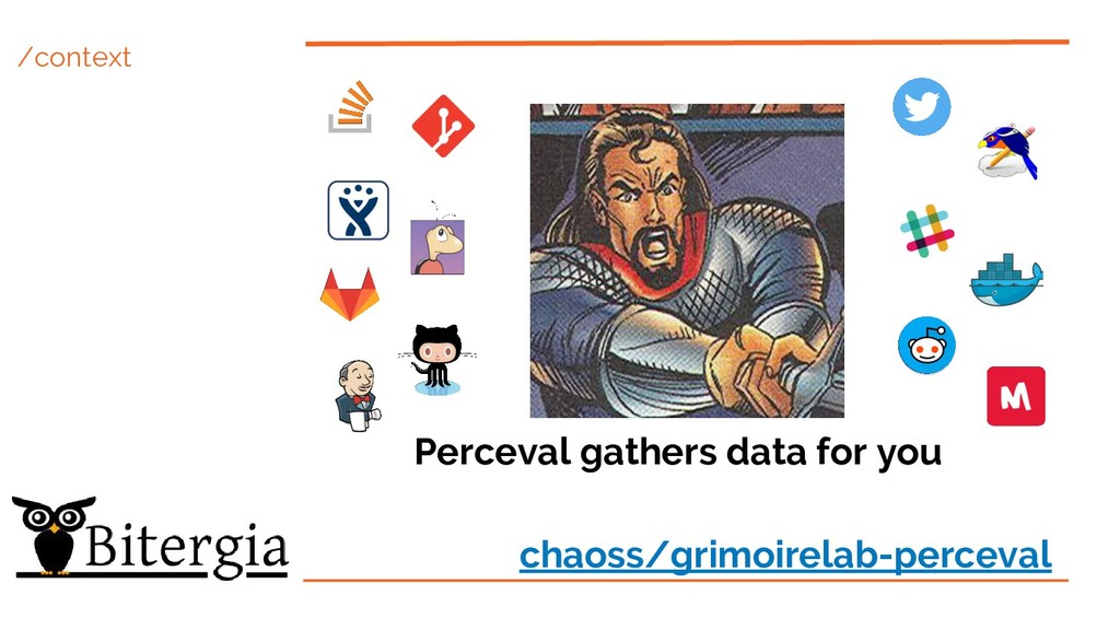 /context Perceval gathers data for you chaoss/g...