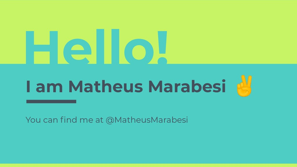 Hello! I am Matheus Marabesi You can find me at ...