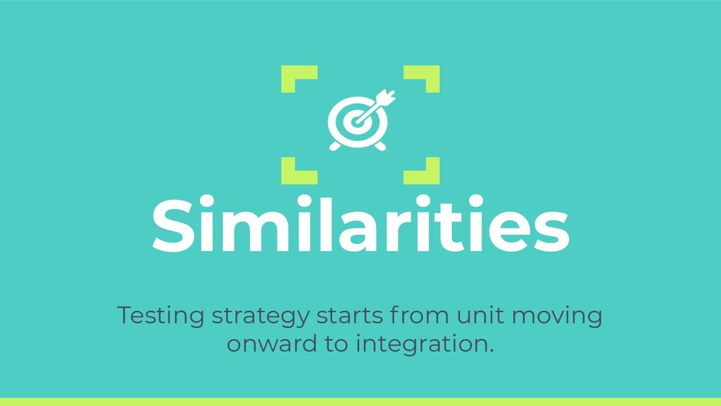 Similarities Testing strategy starts from unit ...
