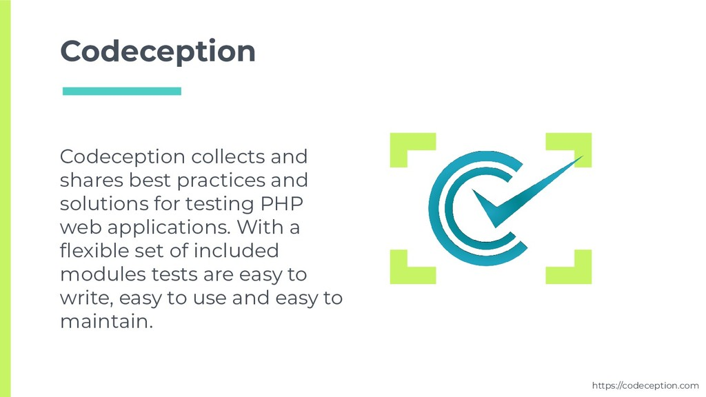 Codeception Codeception collects and shares bes...