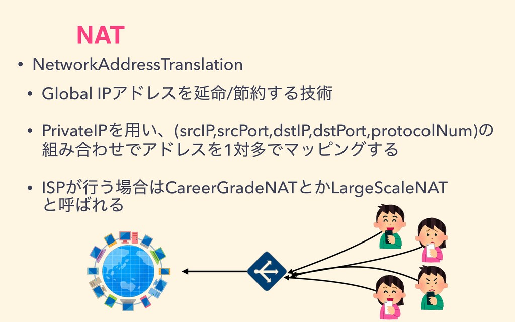 NAT • NetworkAddressTranslation • Global IPΞυϨε...