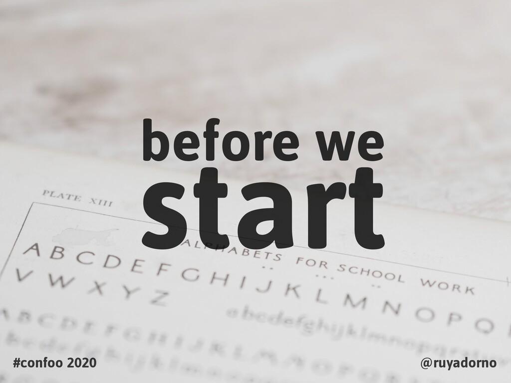 before we #confoo 2020 @ruyadorno start