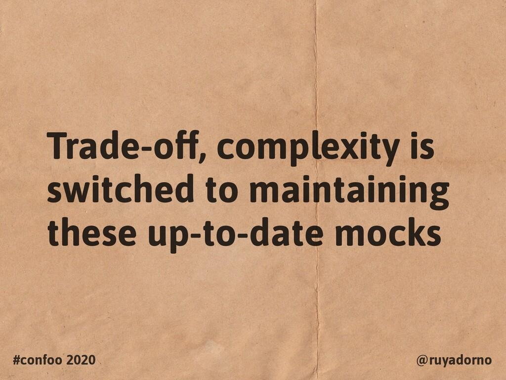 #confoo 2020 @ruyadorno Trade-off, complexity i...