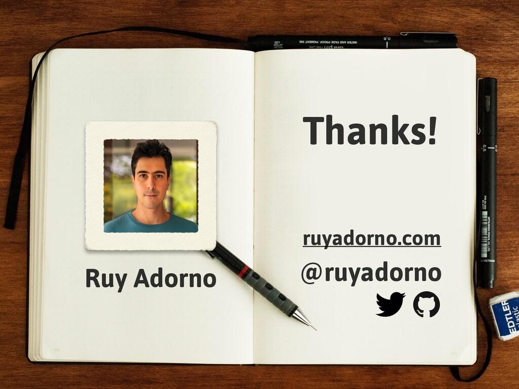 Ruy Adorno Thanks! @ruyadorno ruyadorno.com