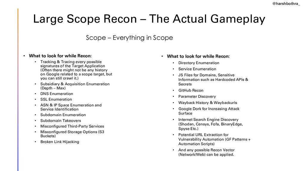 Large Scope Recon – The Actual Gameplay • What ...