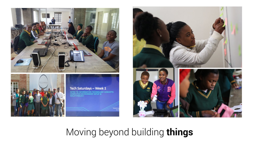 Moving beyond building things