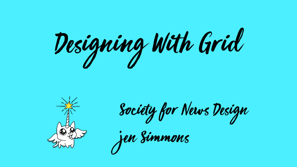 Designing With Grid Society for News Design jen...