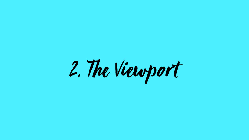 2, The Viewport