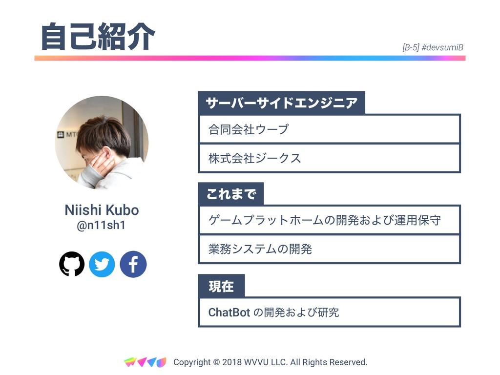 ࣗݾհ Niishi Kubo @n11sh1 Copyright © 2018 WVVU ...