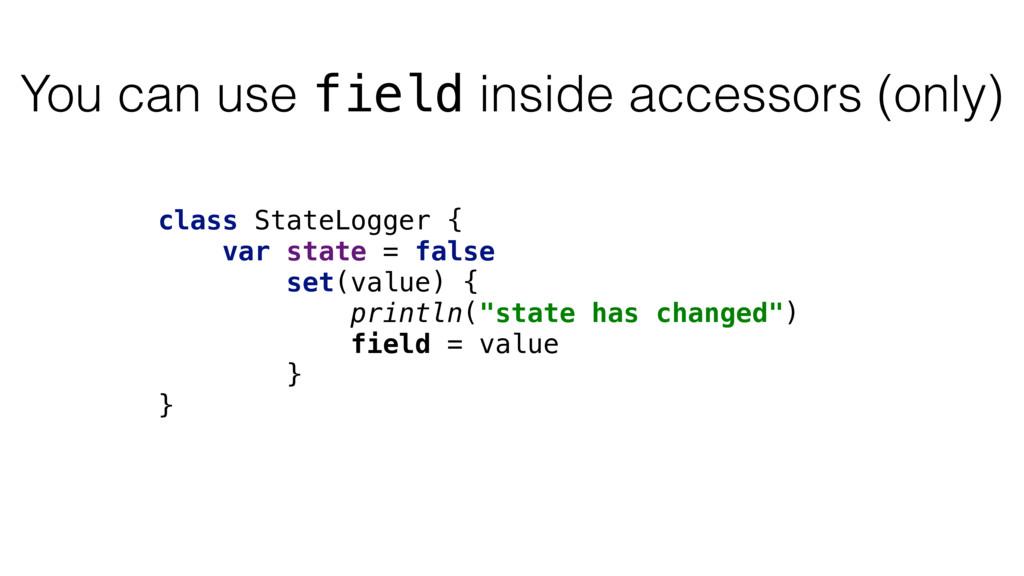class StateLogger { var state = false set(value...