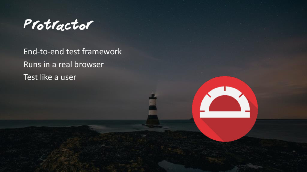 Pr otr actor End-to-end test framework Runs in ...