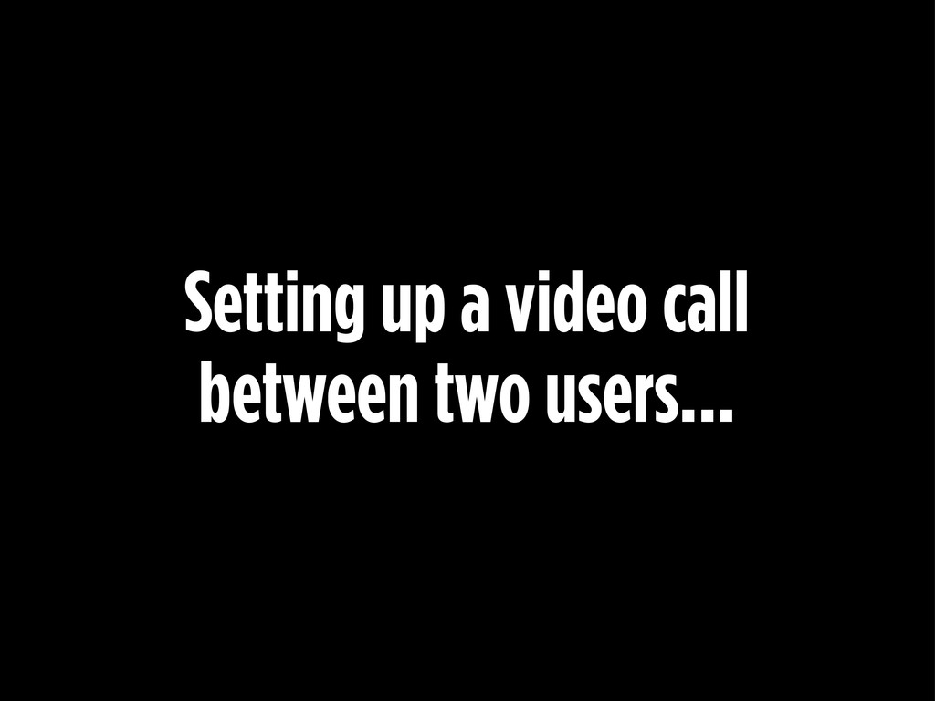 Setting up a video call between two users...