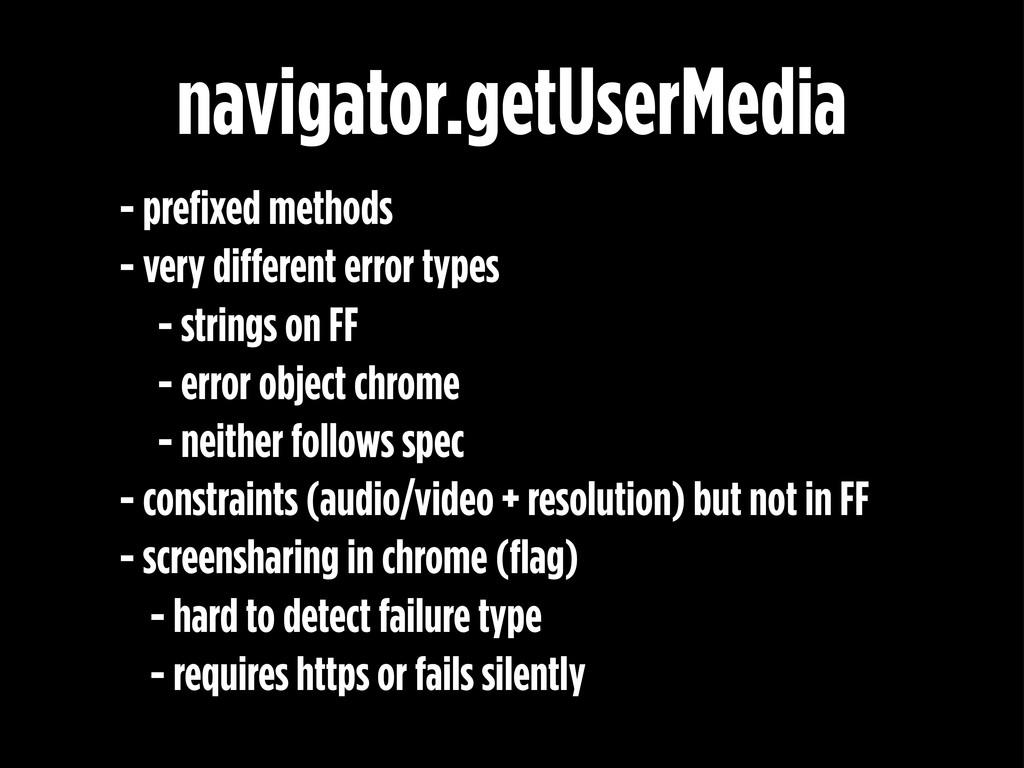 - prefixed methods - very different error types...