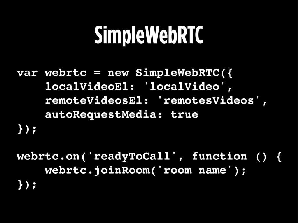 SimpleWebRTC var webrtc = new SimpleWebRTC({ lo...