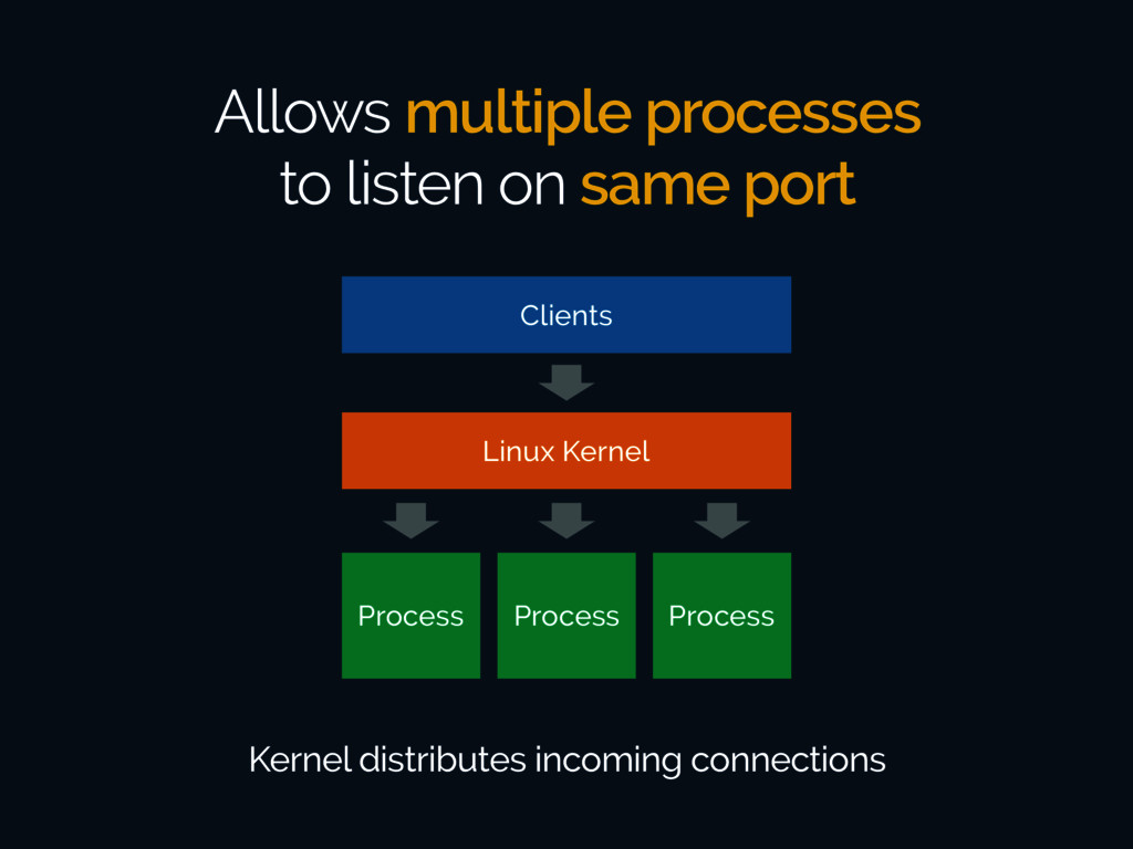 Allows multiple processes to listen on same por...