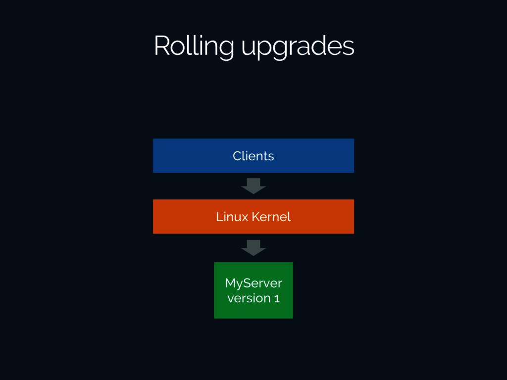 Rolling upgrades Linux Kernel MyServer version ...