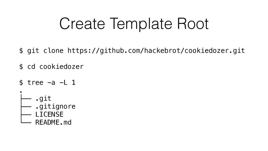 Create Template Root $ git clone https://github...