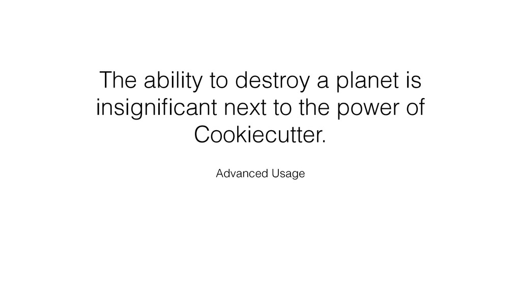 The ability to destroy a planet is insignificant...