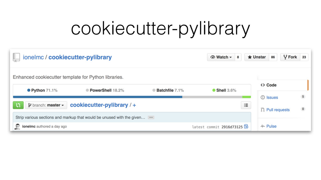 cookiecutter-pylibrary