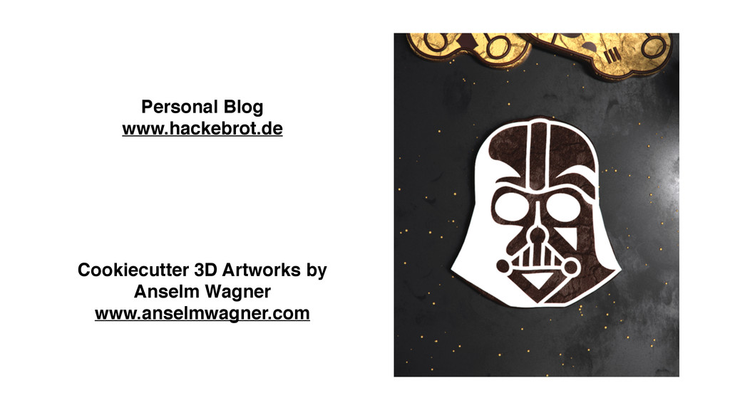 Personal Blog www.hackebrot.de Cookiecutter 3D ...
