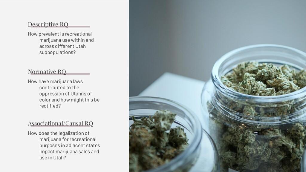How prevalent is recreational marijuana use wit...