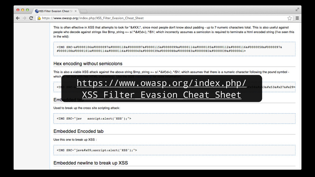 https://www.owasp.org/index.php/ XSS_Filter_Eva...