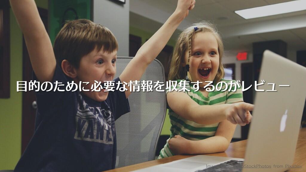 目的のために必要な情報を収集するのがレビュー Image by StartupStockPho...