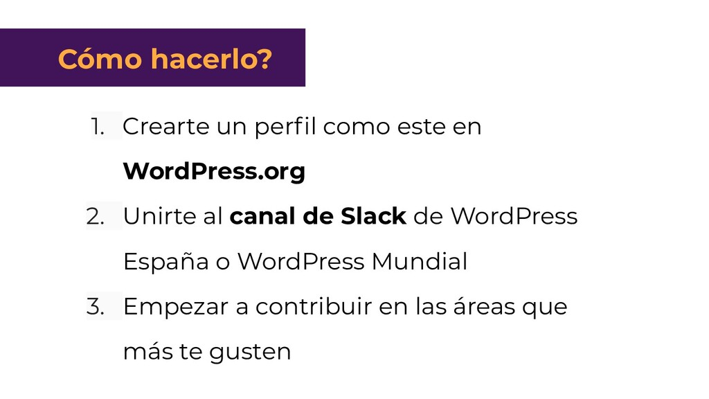 1. Crearte un perfil como este en WordPress.org ...