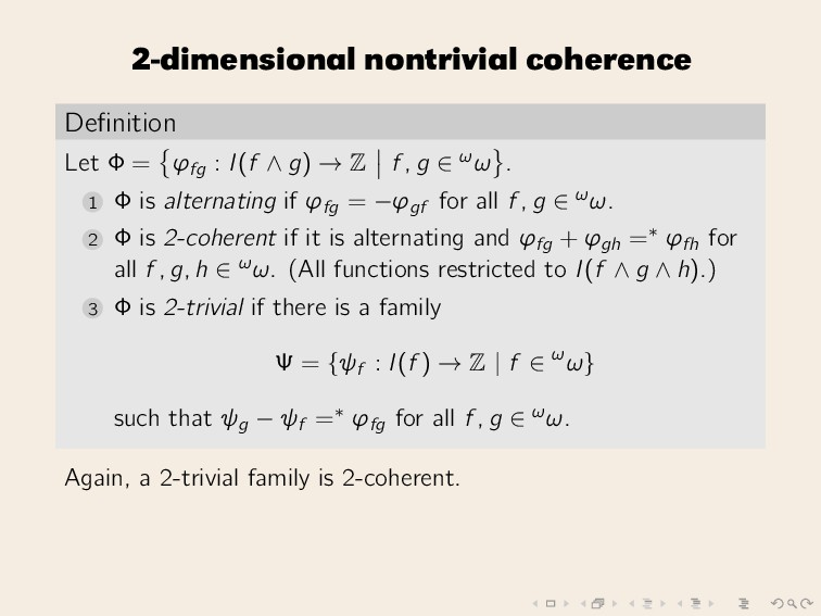 2-dimensional nontrivial coherence Definition Le...