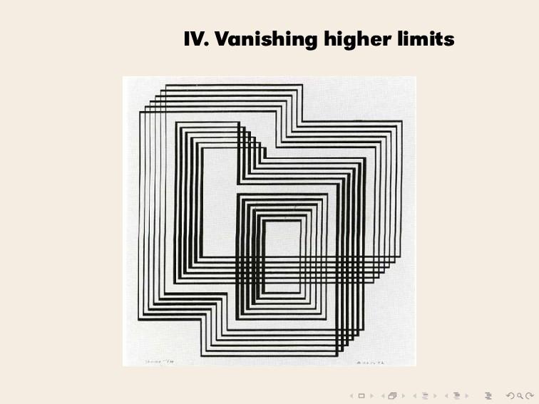 IV. Vanishing higher limits