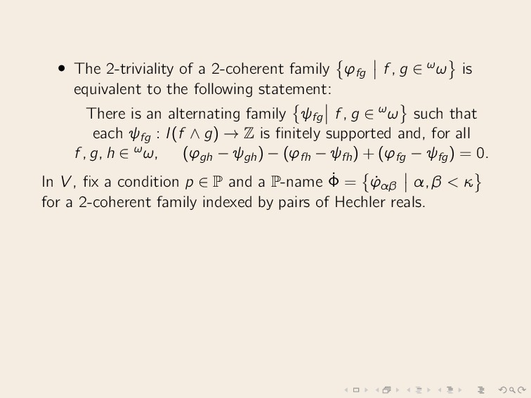 • The 2-triviality of a 2-coherent family ϕfg f...