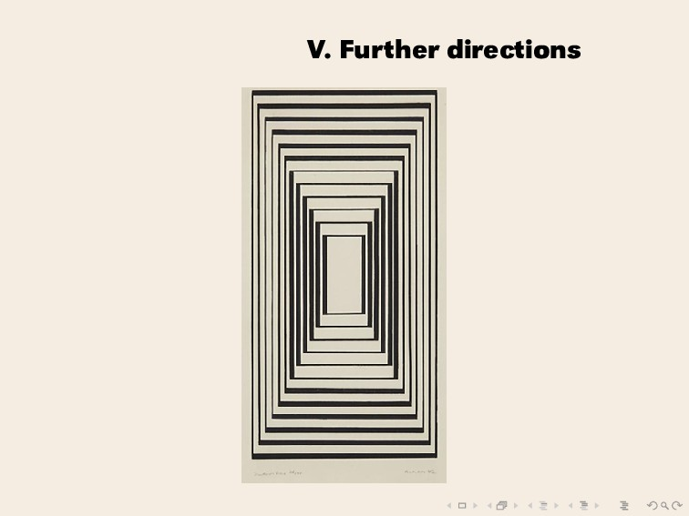 V. Further directions