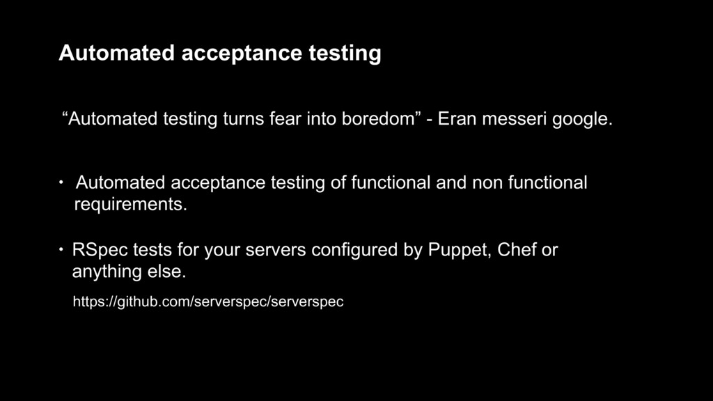 "Automated acceptance testing ""Automated testing..."
