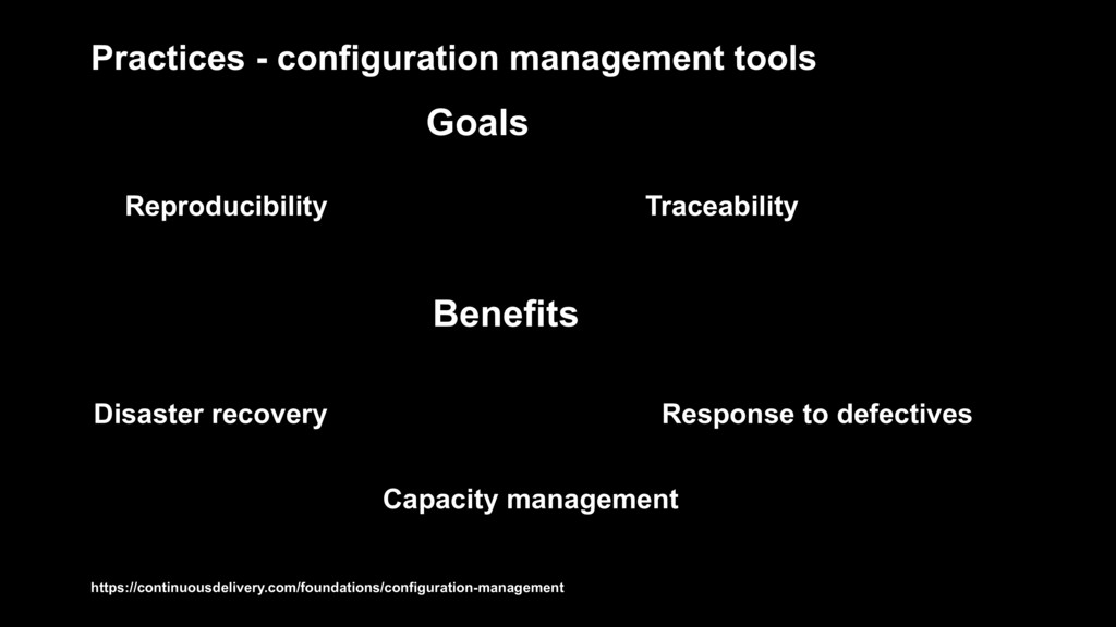 Practices - configuration management tools Trac...