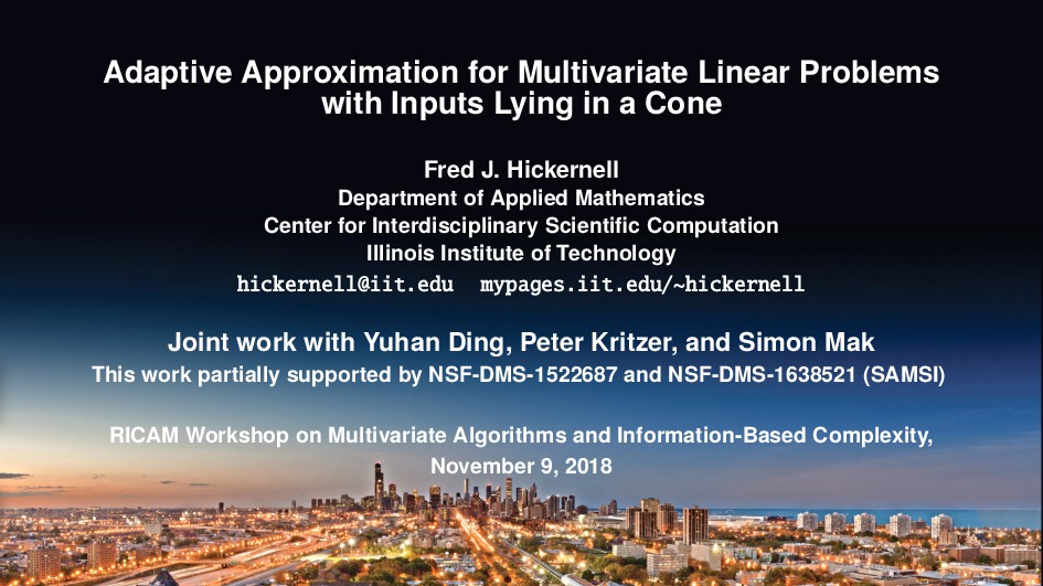 Adaptive Approximation for Multivariate Linear ...