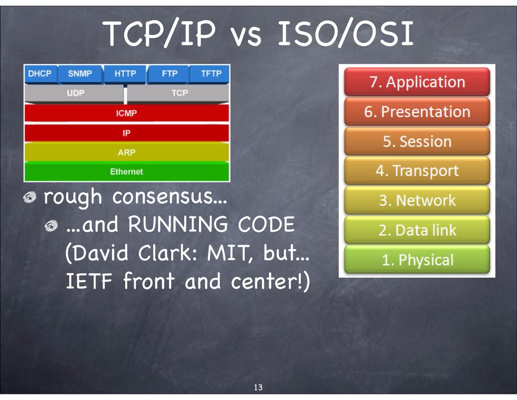 TCP/IP vs ISO/OSI rough consensus... ...and RUN...