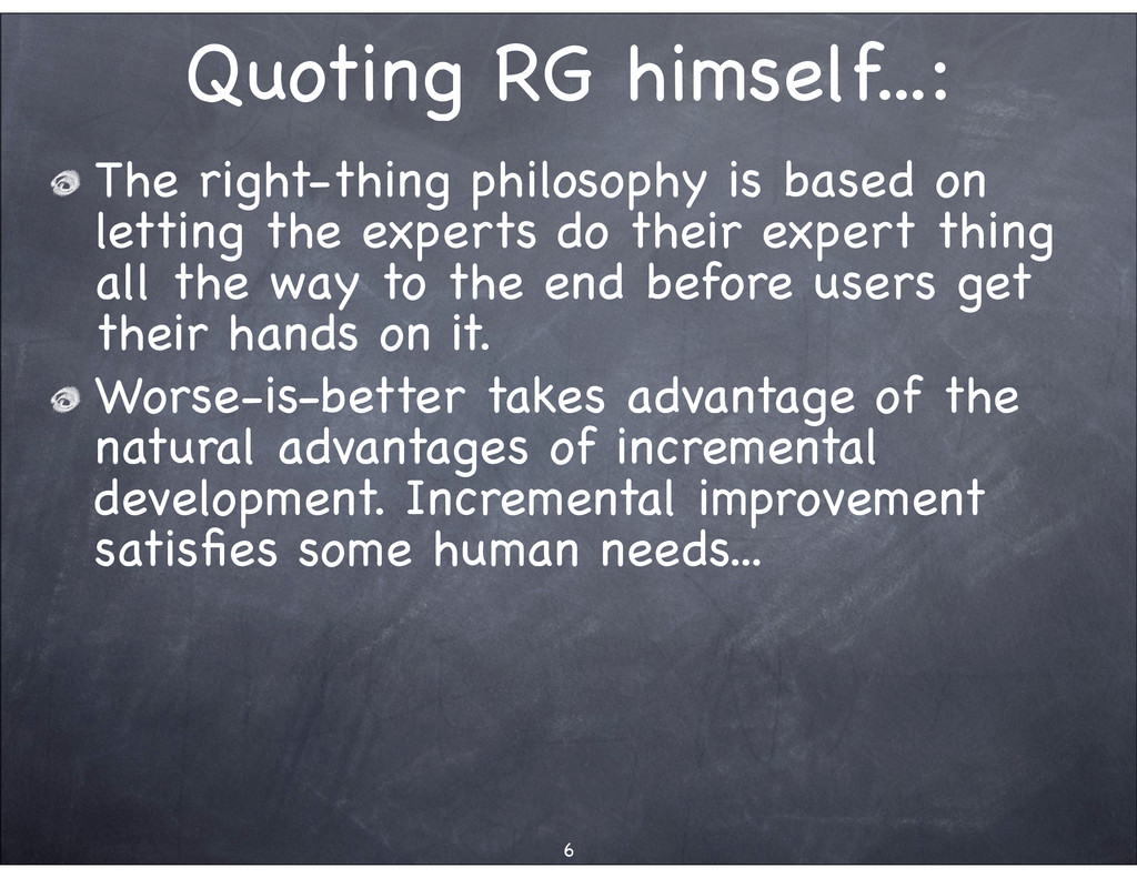 Quoting RG himself...: The right-thing philosop...
