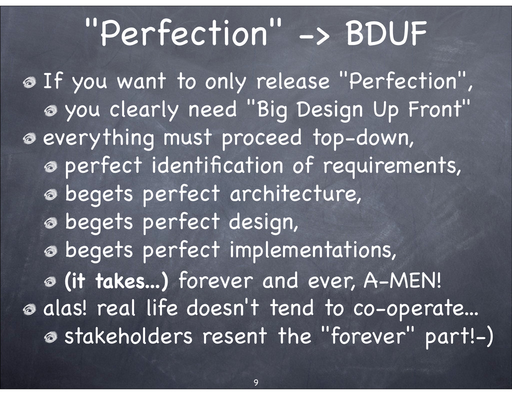 """""""Perfection"""" -> BDUF If you want to only releas..."""
