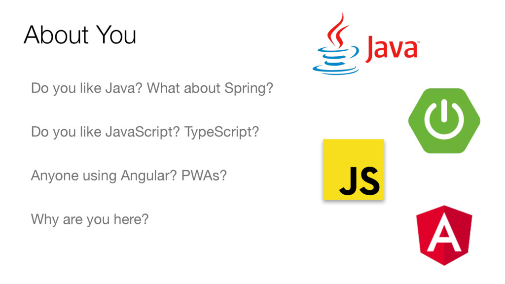 About You Do you like Java? What about Spring? ...