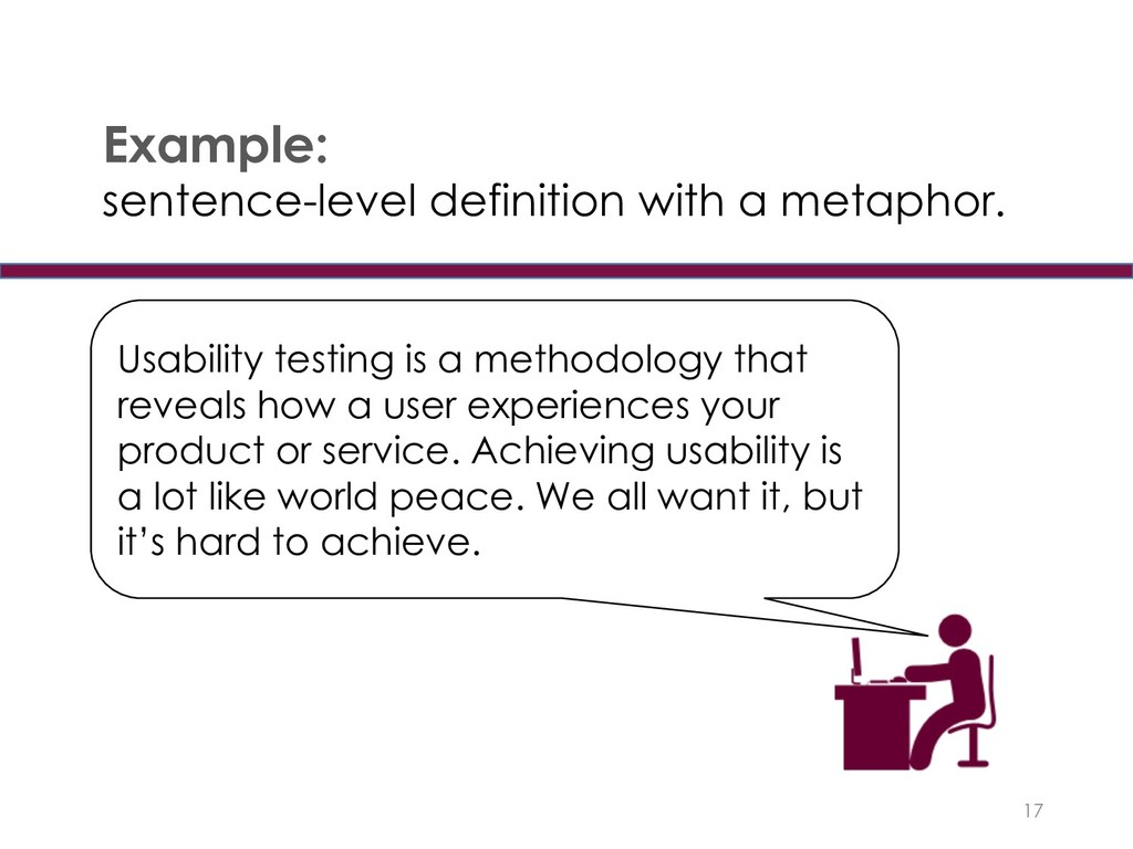 17 Example: sentence-level definition with a me...
