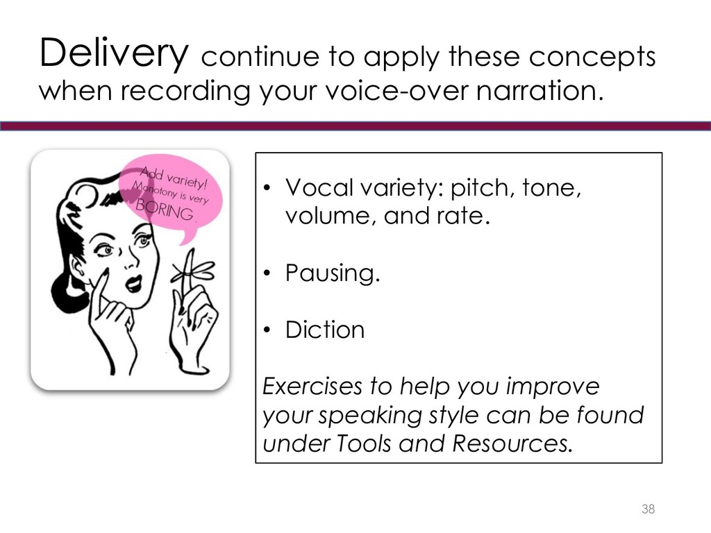 Delivery continue to apply these concepts when ...