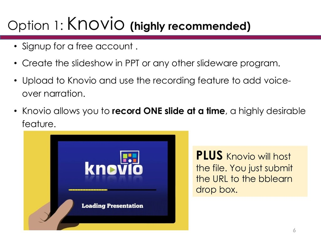 Option 1: Knovio (highly recommended) • Signup ...