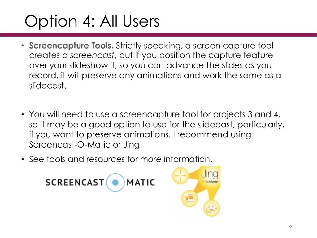 Option 4: All Users • Screencapture Tools. Stri...