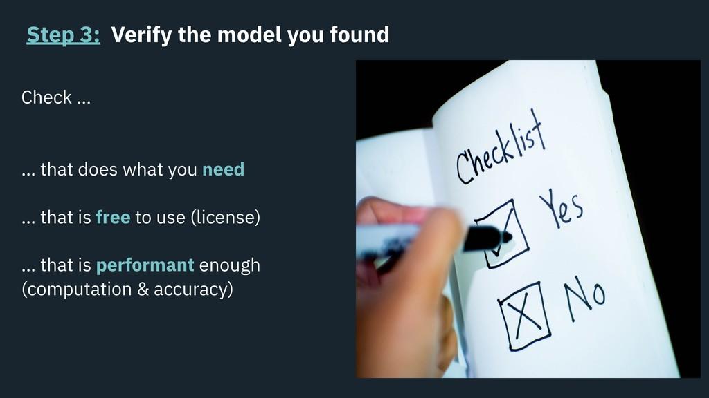Step 3: Verify the model you found Check … … th...