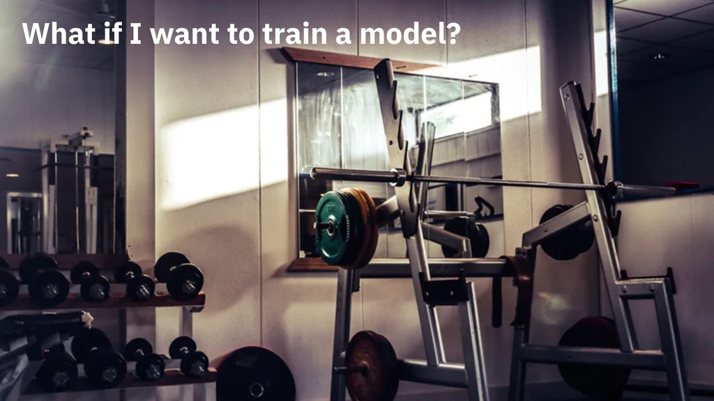 What if I want to train a model?