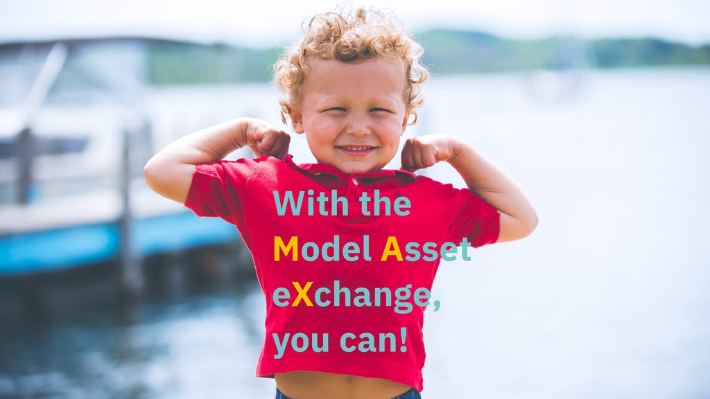 With the Model Asset eXchange, you can!