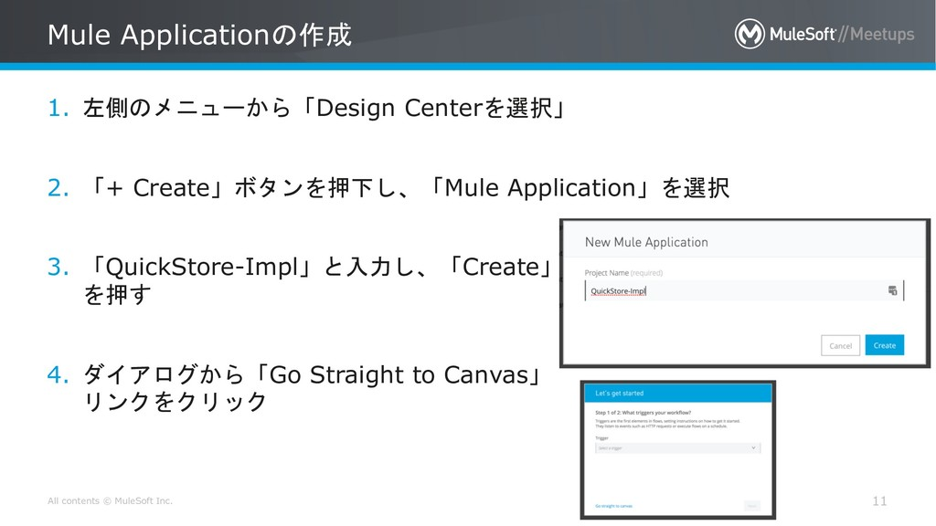 All contents © MuleSoft Inc. Mule Application...
