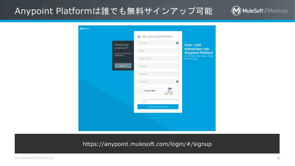 All contents © MuleSoft Inc. Anypoint Platform...