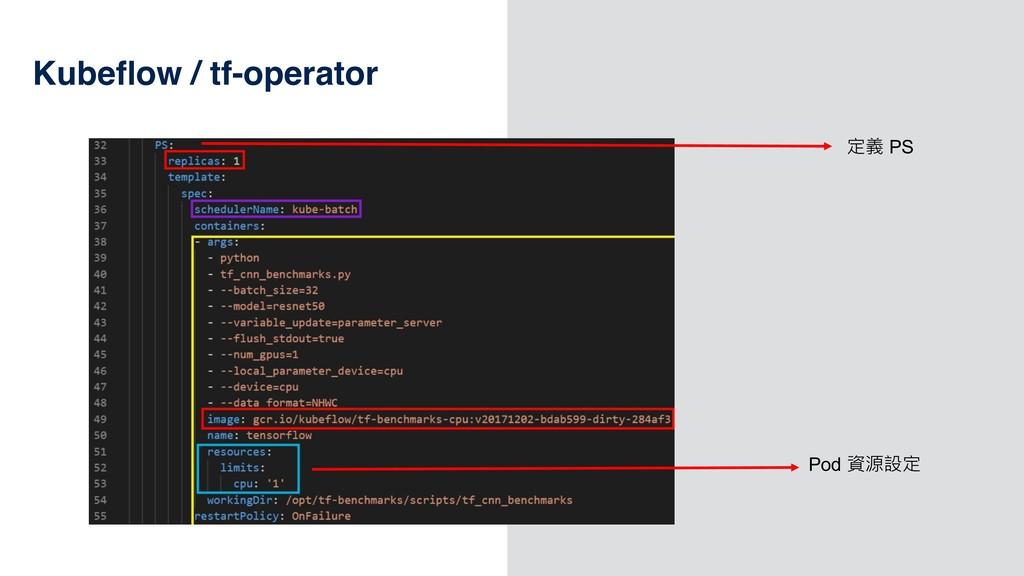 49 Kubeflow / tf-operator  PS Pod